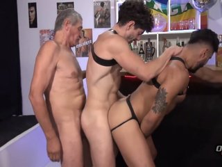 Beautiful Daddy With Big Cock Threesome With Young Guys