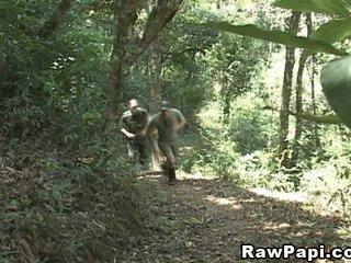 Military BareBacking in the Jungle